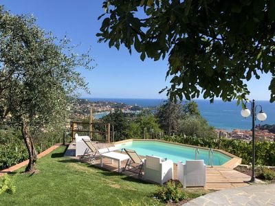 Photo for Villa Il Golfo 6 pax with pool free Wi-Fi, BBQ near Beaches and Cinque Terre