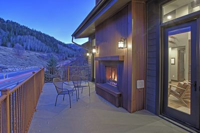 Front Deck Fireplace