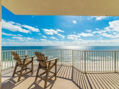 Photo for Beautiful, spacious, updated beach front condo! Water views from every room!