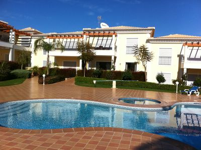 Photo for Luxury 2 Bed Apartment with solar heated pool near to beach
