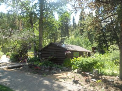 The cabin from the back side