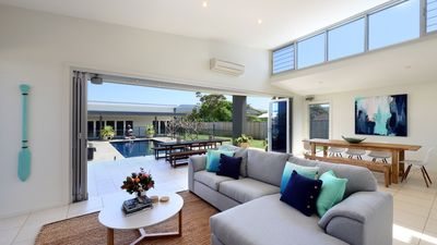 Spacious lounge, entertainers deck, pool, heated spa and Games roo