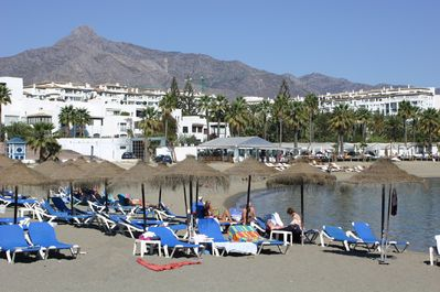 Club Playas del Duque Beach, Blue Flag sandy beaches in front of our apartments