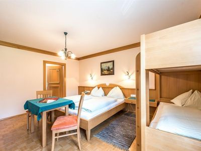 """Photo for Quadruple room """"MITTERHORN"""" with shower, WC - Wachter, Hotel Gasthof"""