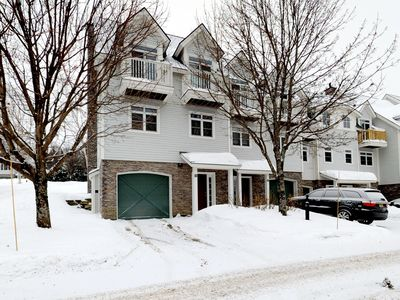 Photo for Light-filled home w/ balcony, fireplace & shared hot tub - near skiing/golfing!