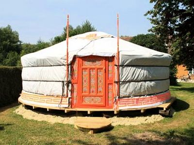 Photo for Domaine du Lieu Dieu - Yurt 2 Rooms 4 People