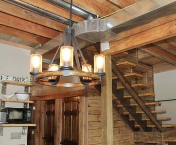 Rustic in design with a combination of repurposed and modern materials