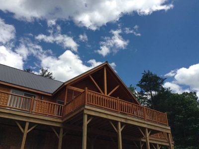 Photo for Brand New Beautiful Log Cabin With Views And Near Lake