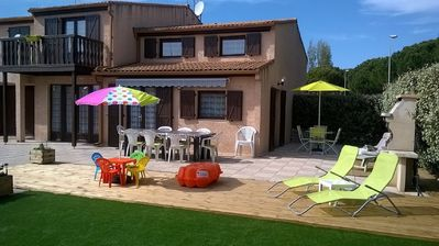 Photo for CONTEMPORARY VILLA WITH ALL COMFORT 10/12 PEOPLE PRIVATE POOL AND BEACH 3 KM