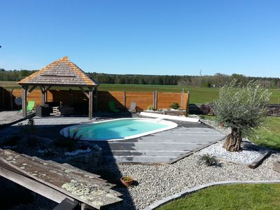 Photo for Chalet Hutes PYrénées 4 *. 11 people. Family, relaxation, spa, swimming pool ....