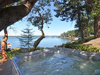 Photo for Waterfront, Walk out Beach, Hot Tub, Dock, Buoy -  Near Friday Harbor!