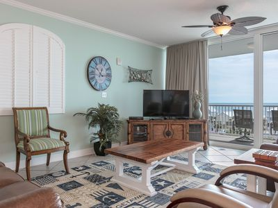 Photo for Beach condo overlooking the Gulf w/ shared pool, fitness room, & grilling area!