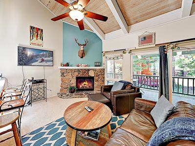Living Area - Welcome to Tahoe City! This condo is professionally managed by TurnKey Vacation Rentals.