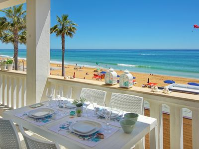 Photo for Beachfront Villa- UNIQUE SPOT- 6 PEOPLE- RENOVATED 2018 - Old town- Albufeira
