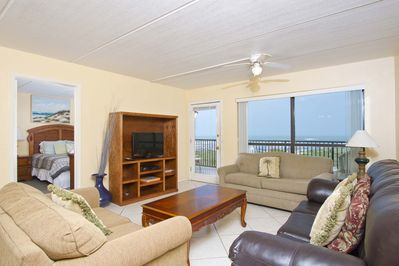 The living area has a great view and will make you feel at home.