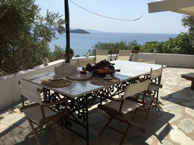 Photo for VIP terrace over the Aegean, amazing views