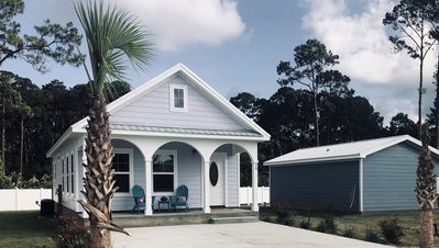 Photo for 🏖✈️ Hangar #13 ✈️🏖New! Pool! Pet Friendly  Cottage in Mexico Beach 🐾 🐾