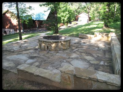 Fire pit (owners house and garage in background)