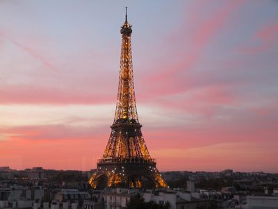 Photo for Eiffel Tower views, new luxury designer apartment , sunny, balcony, central A/C