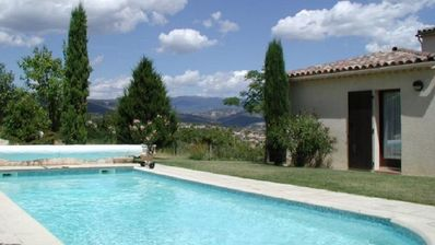 Photo for Villa with dependency, swimming pool and sported ground close to Forcalquier, Luberon
