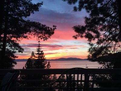 Photo for Classic Tahoe Stone and Timber Private Lake Front House