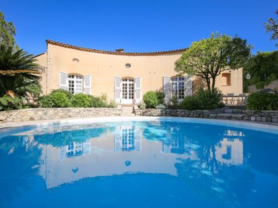 Photo for Authentic Provencal Villa, Sweeping Views of the French Riviera