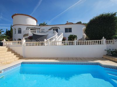 Photo for comfortable villa, private pool, panoramic viewinternet, air condition, dishwas