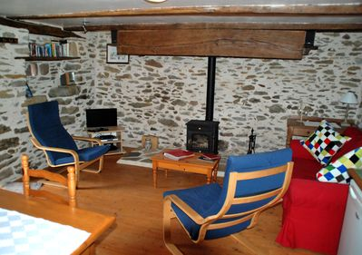 Maison du Four - lounge with woodburner