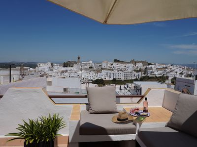 Photo for Sunny terrace, great views from comfortable Costa de la Luz home.