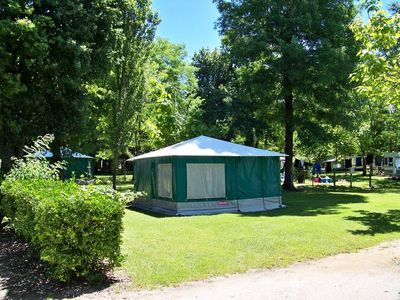 Photo for Camping Les Peupliers *** - Canvas Bungalow 3 Rooms 4 Persons