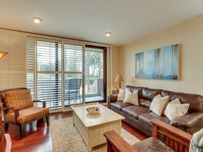 Photo for NEW LISTING! Waterfront condo w/ decks, shared tennis, & short path to the beach