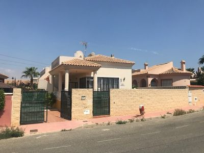 Photo for Beautiful spacious 3 bedroom, 2 bathroom detached villa with private pool & A/C
