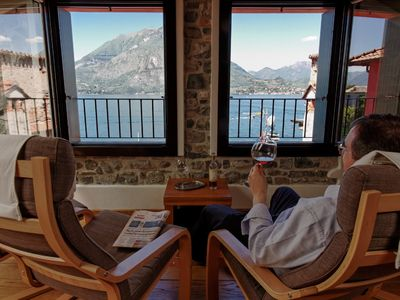Photo for Casa Mara, luxurious house in the center of Varenna with balcony above the lake
