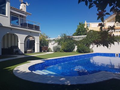 Photo for Stunning 2 bed, 1 bath Villa apartment with large private pool