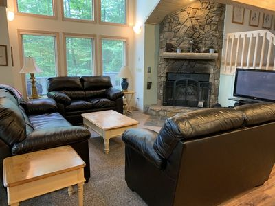 Main floor living space.  Brand new furniture fall 2019.