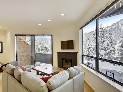 Photo for Recently Remodeled! 0.1 Miles from Squaw's Village. Stunning Views from the Private Deck. Walking distance to the Village. 10 Minutes from Tahoe City.