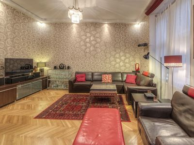 Photo for Stunning, Spacious Designer Apartment on Danube Waterfront with Parliament View