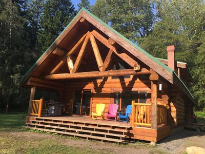 Photo for Loons Nest - Cozy, secluded 4 bedroom log cabin in the heart of the wilderness!