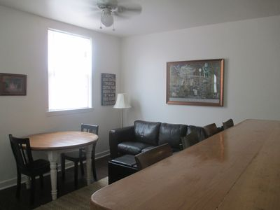 Living room with bar/counter