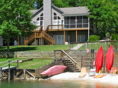 Photo for Perfect Lake Keowee Waterfront Vacation Home with Boat and Jet Ski Rentals