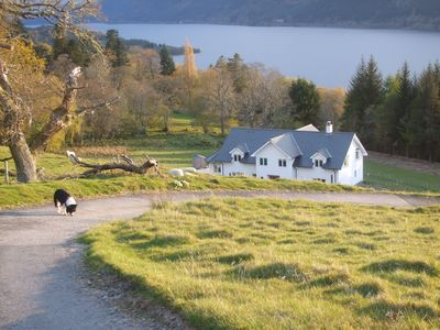 Photo for Peace & tranquility overlooking Lochness - perfect for groups or families