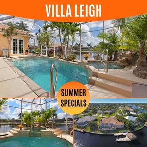 Photo for 31% OFF! - SWFL Rentals - Villa Leigh - Relaxing 4 BR Home with Tropical Lanai on Gulf Access Canal