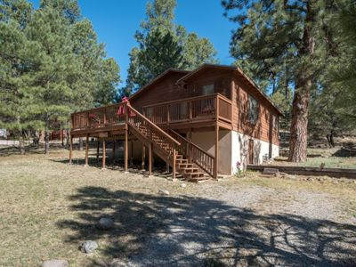 Photo for 1  LEVEL CABIN, 2 Q, LG DECK, GRILL, JUST N. OF RUIDOSO RIVER