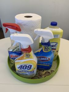 The home is thoroughly cleaned before arrival, but we have supplies for your use