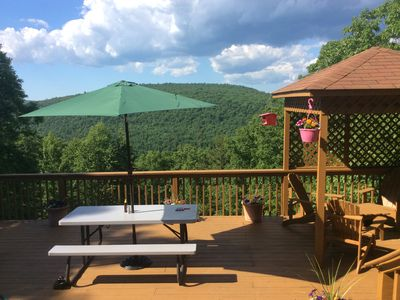 Photo for Masthope Mountaintop Home Overlooking Delaware River Valley and NY Catskills