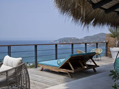 Photo for Contemporary-tropical casa with breathtaking views of Zihuatanejo