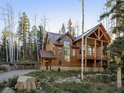 Photo for 3,300 Sq Ft Elegant Mountain Retreat. Custom Home with private shuttle to resort