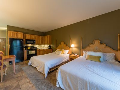 Photo for Condo with Kitchen, Fireplace, WiFi and AC - By PADZU