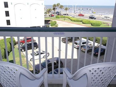 Photo for Condo With Best Sunrise, Ocean View And Fishing Piers In Galveston!