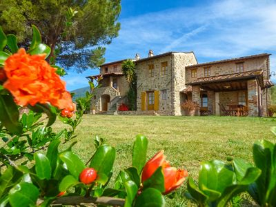 Photo for P. Oasi - private fenced pool house with stunning views. WIFI. Close to Lucca